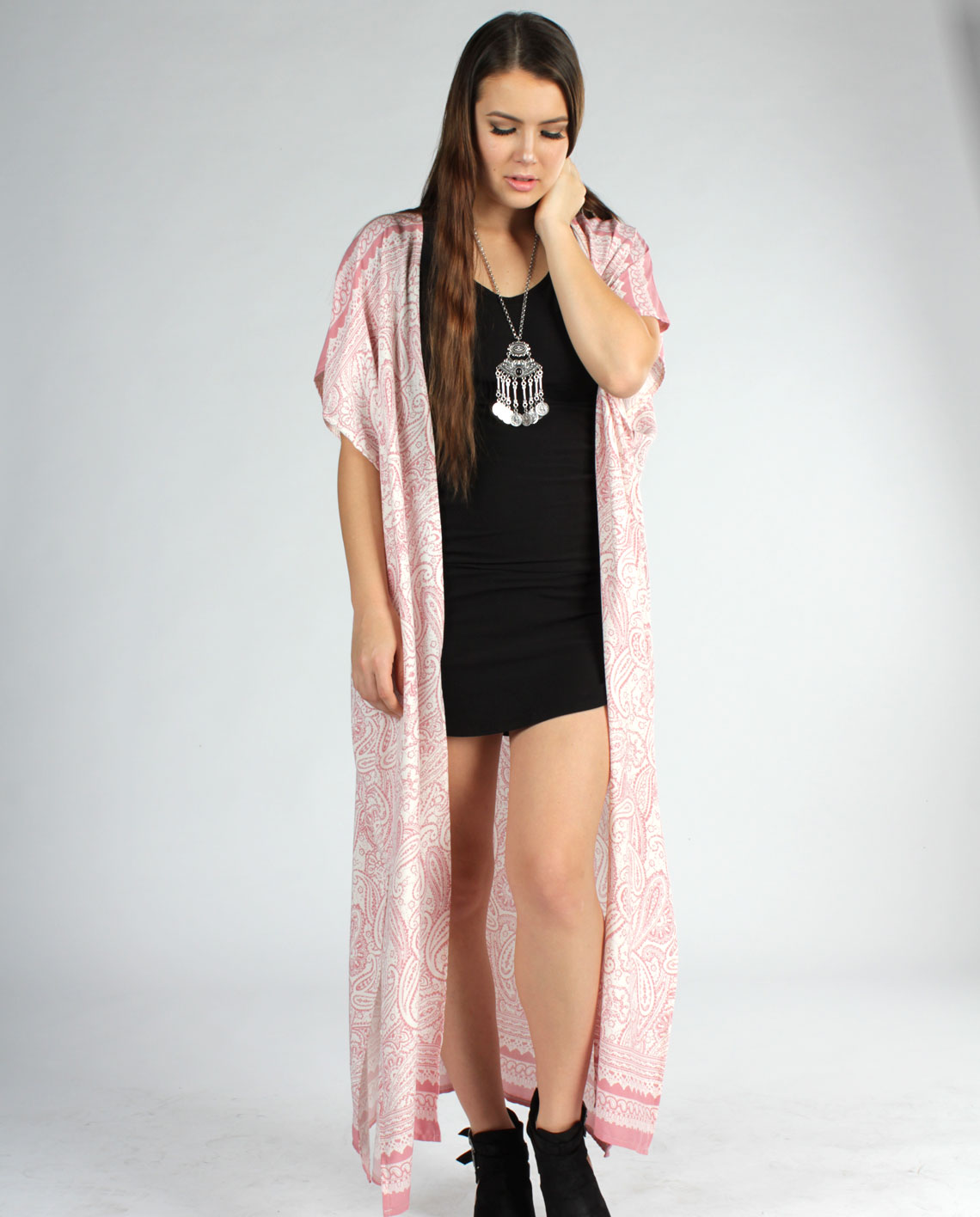 Pink Paisley Duster