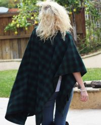 BOandEROS Black and Green Plaid Wrap2
