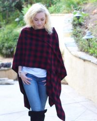 BOandEROS Black and Red Plaid Wrap2