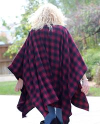 BOandEROS Black and Red Plaid Wrap4