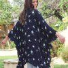 BO & EROS Navy Floral Kimono