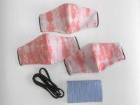 BOandEROS Tie Dye Face Masks Coral Pink Shibori